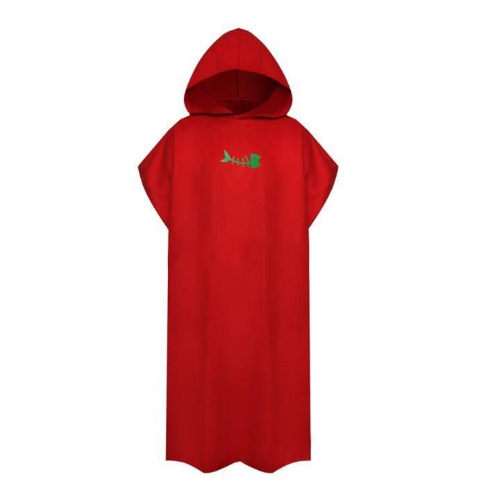 Crème solaire vacances Robe combinaison changeante surf Poncho Robe douce avec capuche cadeau adultes - Modèle: red - TEYYMJA03966