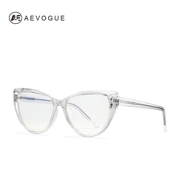 Montures de Lunettes de vue,AEVOGUE lunettes Anti lumière bleue pour femmes Nouvelles lunettes à monture - Type 5.TRANSPARENT