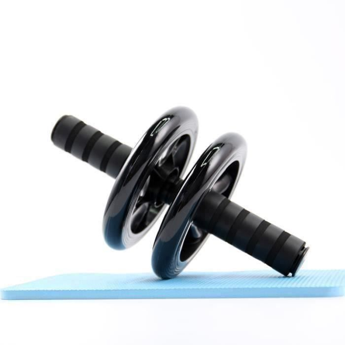 Roue Abdominale, AB Wheel, Appareil Exercice Musculation Abdominaux, Noir E31235