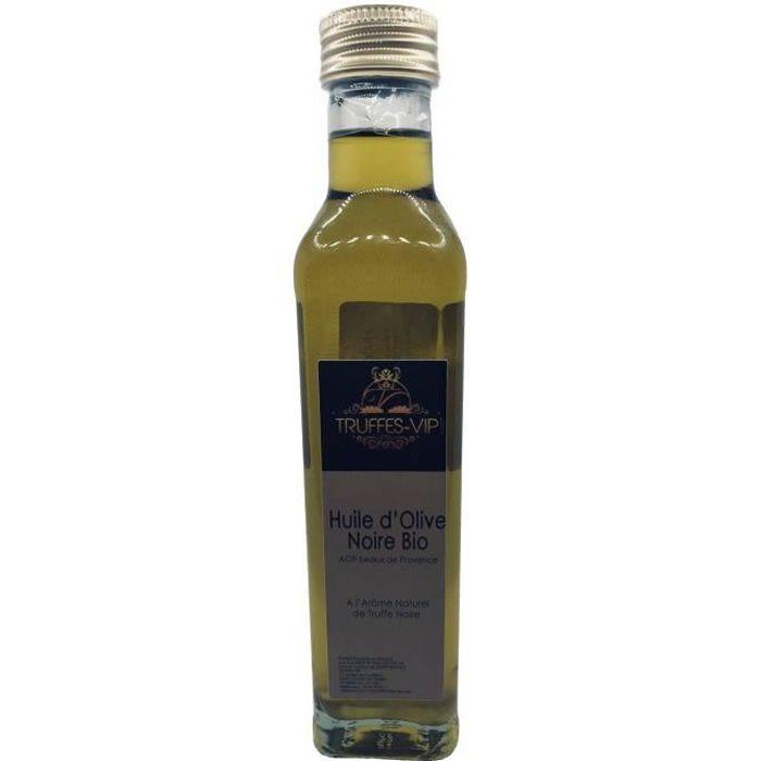 Huile d'olive noire bio à l'arôme naturel de truffe noire