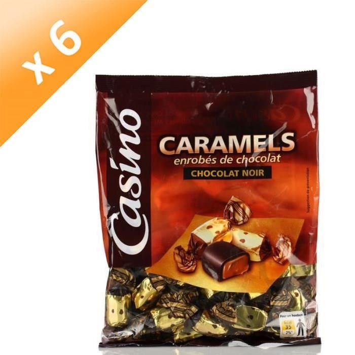 [LOT DE 6] LUTTI Caramels enrobés de chocolat noir - 280 g