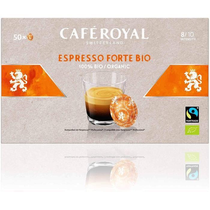CAFE ROYAL PRO - 150 CAPSULES COMPATIBLES NESPRESSO PRO® - ESPRESSO FORTE BIO - 3 Boites de 50 Capsules Compatibles Nespresso Pro®