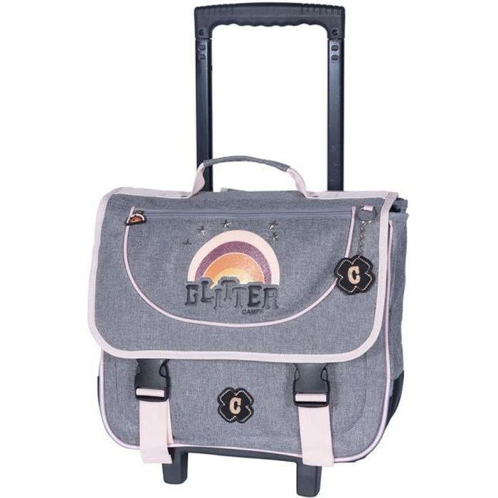 Cartable à roulettes Camps Girl Glitter 41 CM Trolley Haut de gamme
