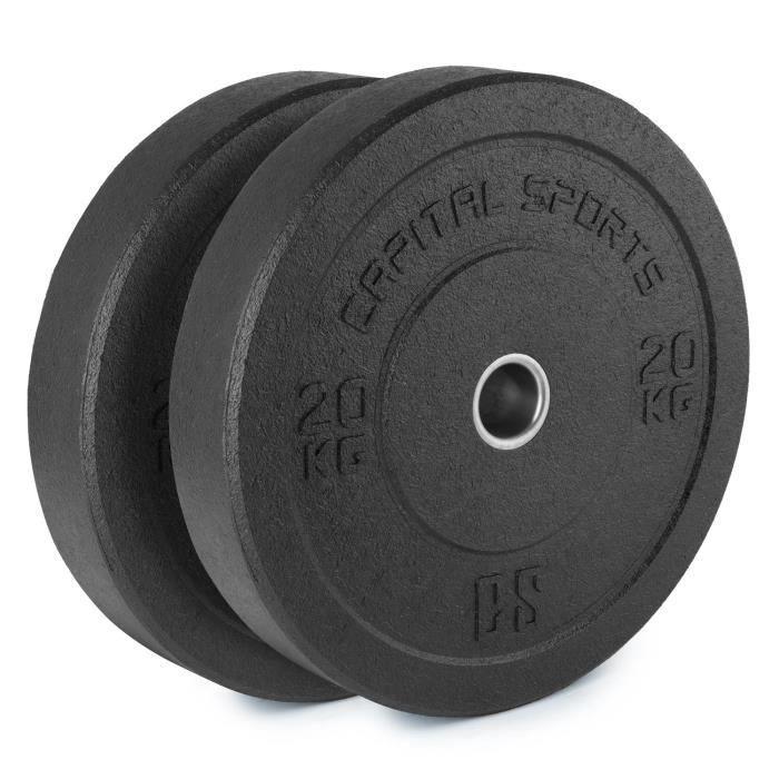 CAPITAL SPORTS Renit Hi Temp Disques pour haltères 50,4 mm 2x 20kg