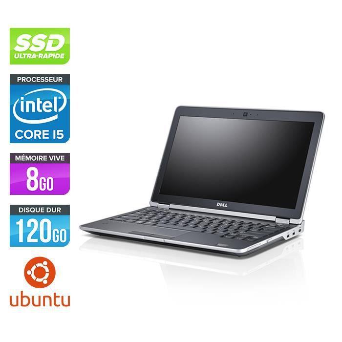Pc portable Dell E6230 - i5 - 8 Go - 120 Go SSD - Linux