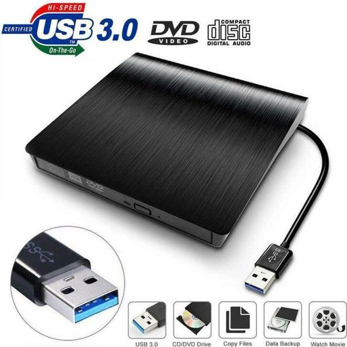 USB 2.0 / 3.0 lecteur externe portable lecteur DVD / RW CD Combo lecteur graveur