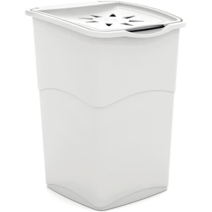 KIS Coffre à linge - 37 x 38 x 53 cm - Blanc
