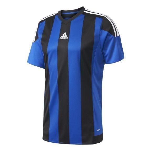 ADIDAS Maillot de Football Striped 15 Bleu / Noir / Blanc