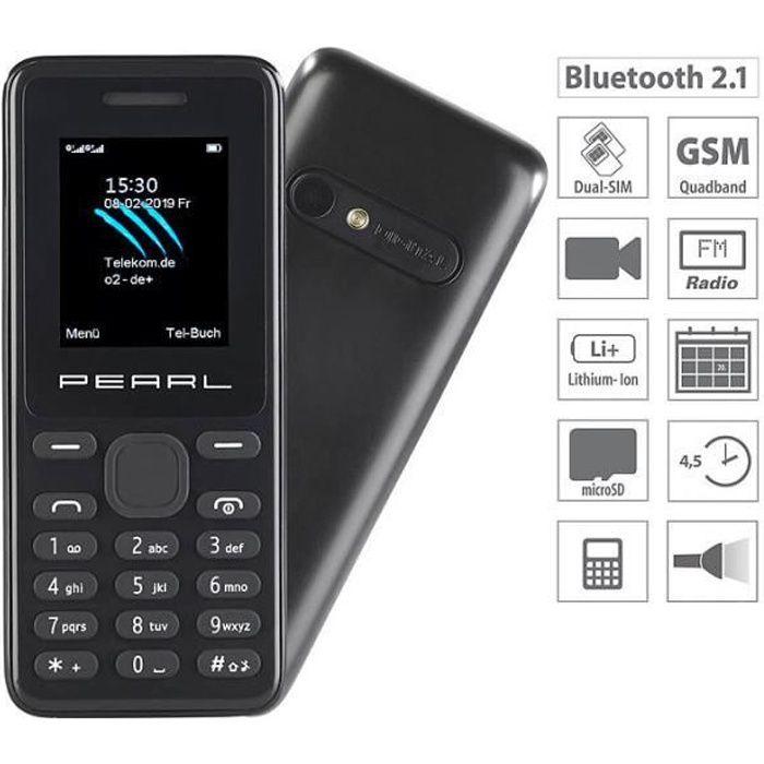 Téléphone mobile double SIM avec caméra, écran couleur et bluetooth -SX-345-