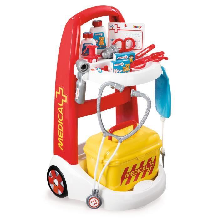 Smoby Toys, 340201, Jeu D'imitation, Infirmière, Chariot Médical, + Accessoires Inclus OW3KQ