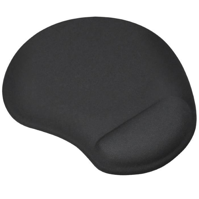 TRIXES 'Petit' tapis de Souris-Coussinet Noir avec Support Coussinet de Confort