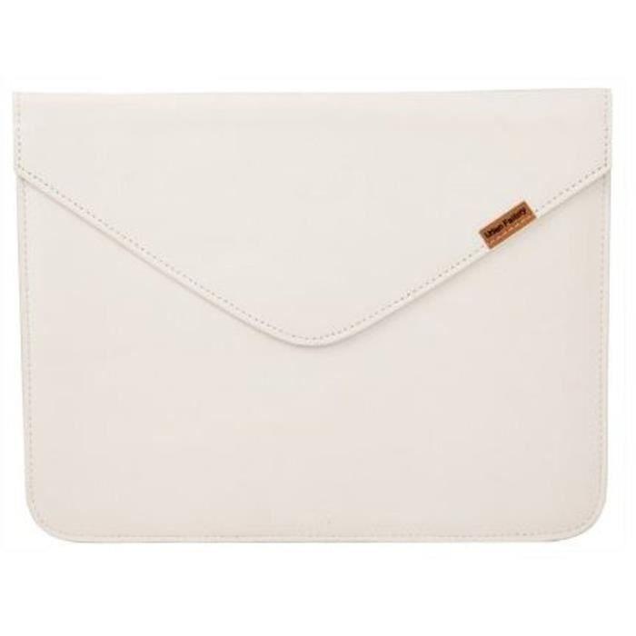 URBAN FACTORY Leather Enveloppe Etui pour tablette - 9.7'' - Cuir - Blanc
