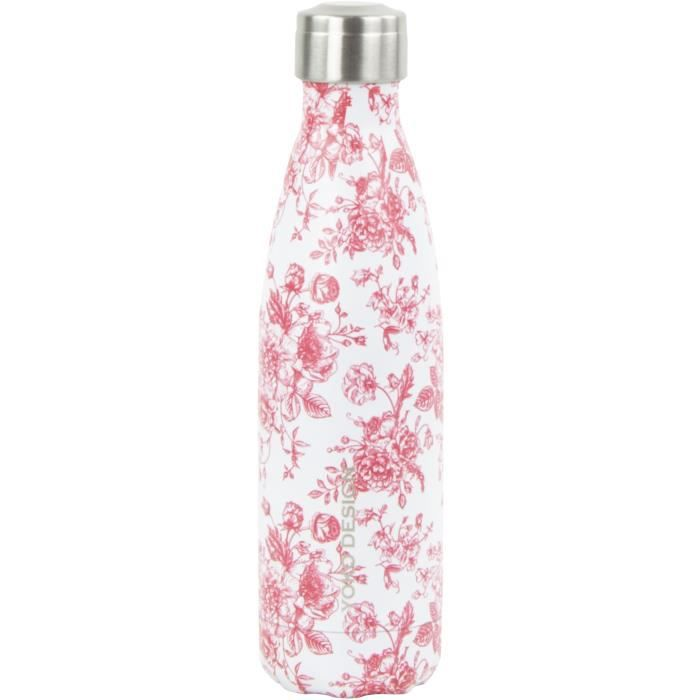 bouteille isotherme YOKO DESIGN 500 ml Toile de Jouy rouge