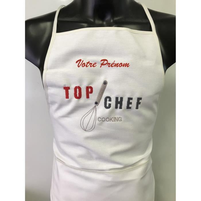 100/% COTON Tablier cuisine  BRODÉ PERSONNALISÉ    80 X 70CM APRON