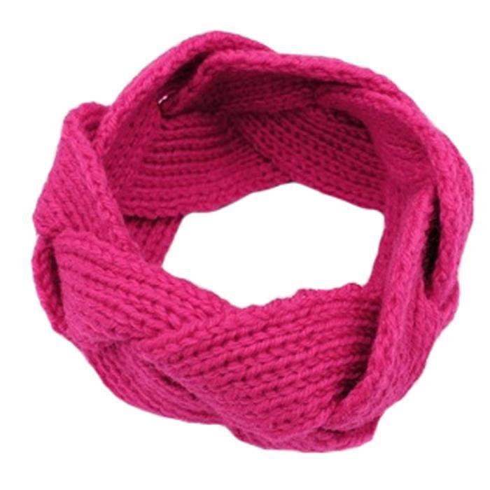 violet bleu clair noir Filles femme 2 extensible tricoté bandeaux rose chaud