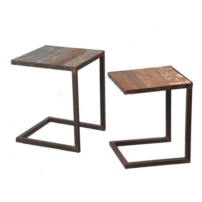 tables gigognes bric achat vente table gigogne tables gigognes bric bois m tal cdiscount. Black Bedroom Furniture Sets. Home Design Ideas