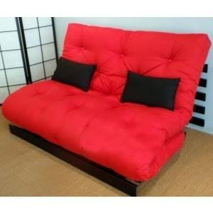 convertible roots 140 weng futon rouge achat vente canap sofa divan cdiscount. Black Bedroom Furniture Sets. Home Design Ideas