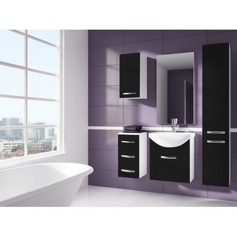 iris noir salle de bain 1m20 6 elements achat vente salle de bain complete iris noir salle. Black Bedroom Furniture Sets. Home Design Ideas