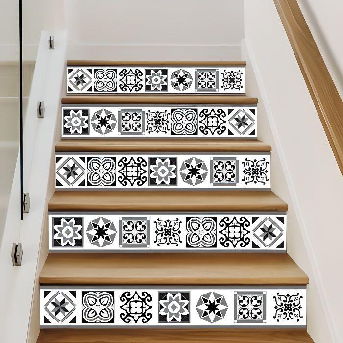 Adhesif Contremarche Lot De 4 Risertiles Adhesif Pour Escalier Dimensions 1m X 17 Cm