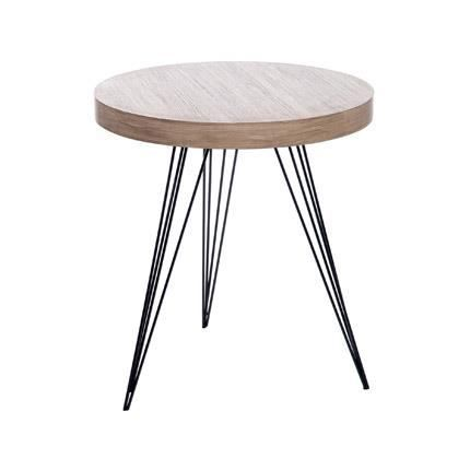 Destockage table ronde pieds central en ch ne de style - Table basse destockage ...