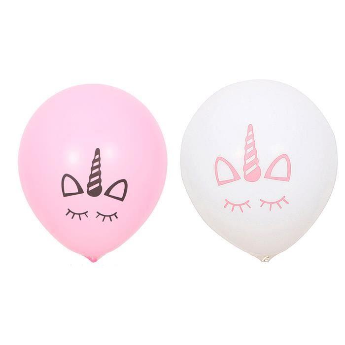 10pcs Pink Unicorn Ballon Licorne A Imprimer En Couleur Achat