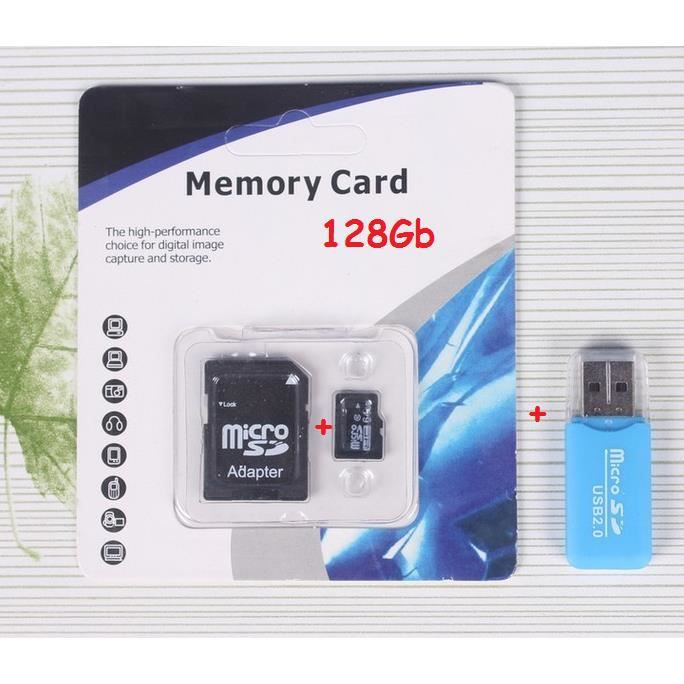 carte micro sd 128gb adaptateur sd usb achat vente carte m moire cdiscount. Black Bedroom Furniture Sets. Home Design Ideas