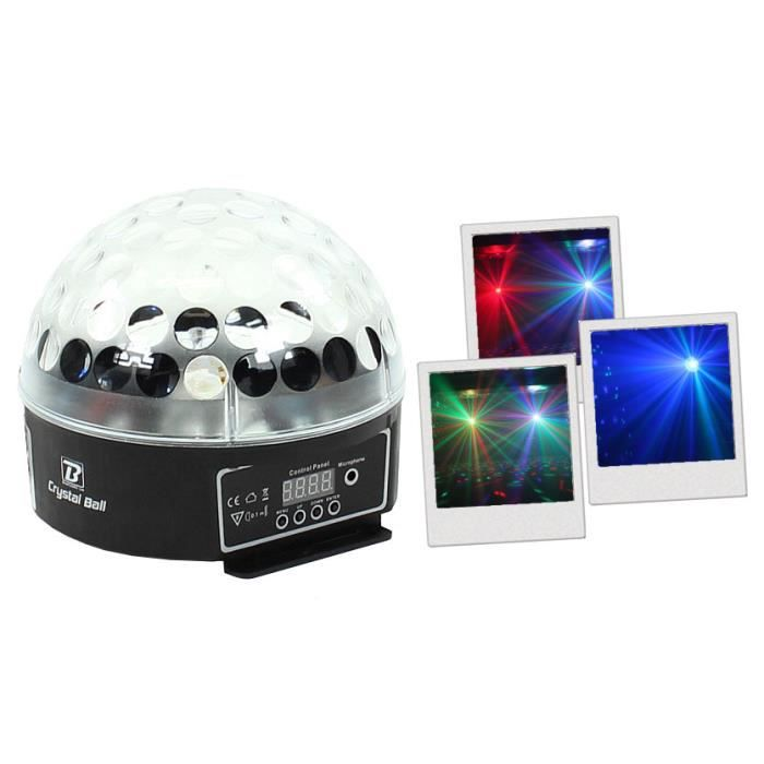 jeux de lumi re boomtonedj crystal ball lampe et spot de sc ne avis et prix pas cher cdiscount. Black Bedroom Furniture Sets. Home Design Ideas