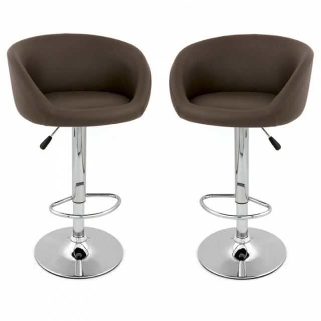 tabouret de bar concert x2 design marron achat vente. Black Bedroom Furniture Sets. Home Design Ideas