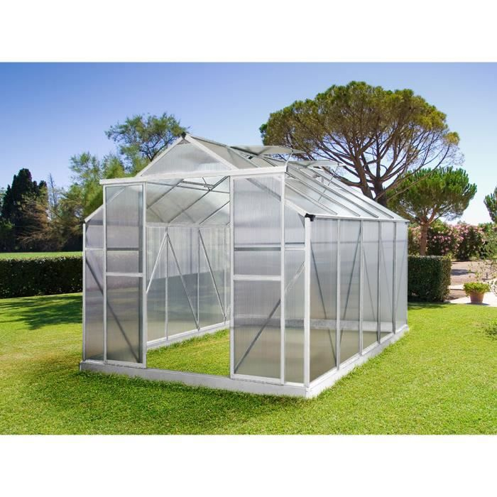 Serre Jardin Polycarbonate Dahlia 9 M2 Achat Vente Serre De Jardinage Serre Jardin Polycarbonate Cdiscount