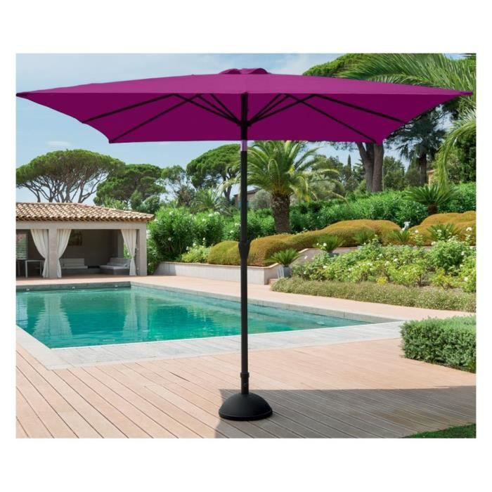 parasol inclinable fidji hesperide carre prune achat vente parasol parasol fidji carre prune. Black Bedroom Furniture Sets. Home Design Ideas