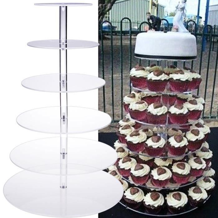 2 ou 3 niveau stand de gâteau anniversaire mariage fête matériau de verre clair