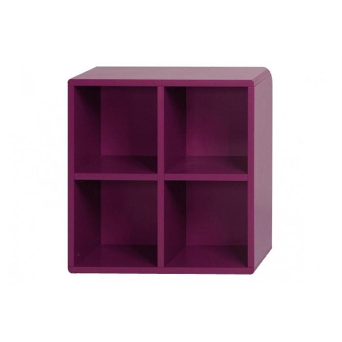 cube de rangement 4 cases violet id 39 clik achat vente petit meuble rangement cube de. Black Bedroom Furniture Sets. Home Design Ideas