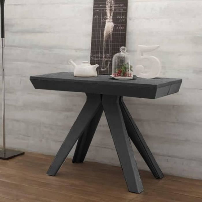 console extensible jack gris anthracite achat vente console extensible console extensible. Black Bedroom Furniture Sets. Home Design Ideas