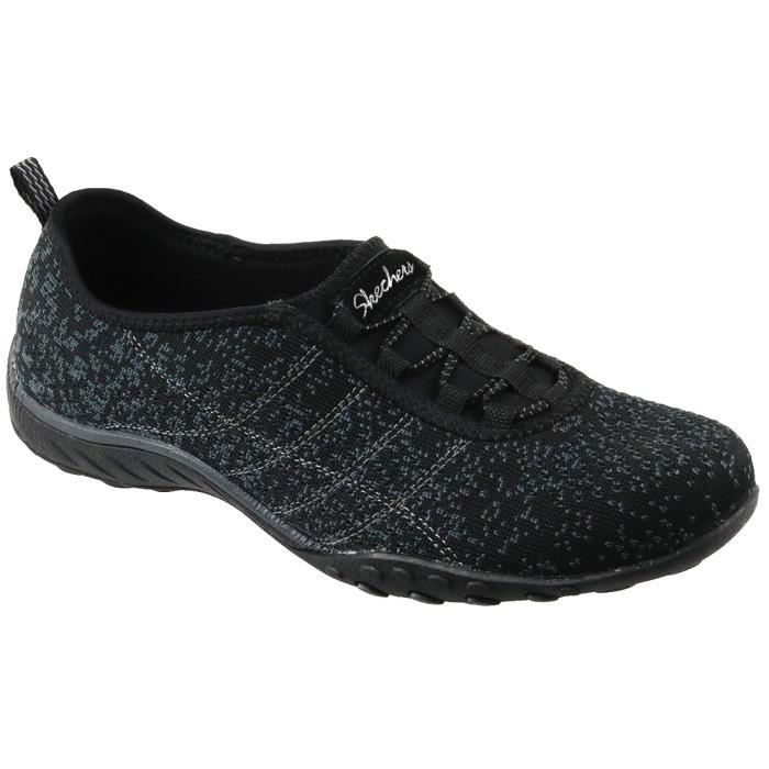 Skechers Breathe Easy 23008-BLK Femme BasketsNoir