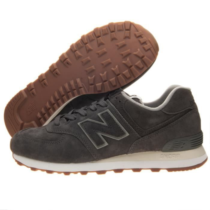 basket new balance cuir marron