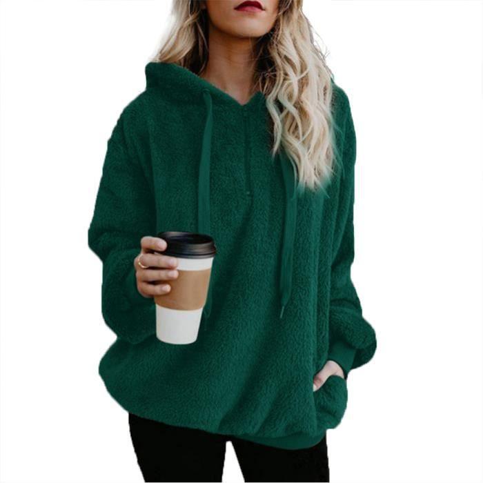 sweat shirt vert femme