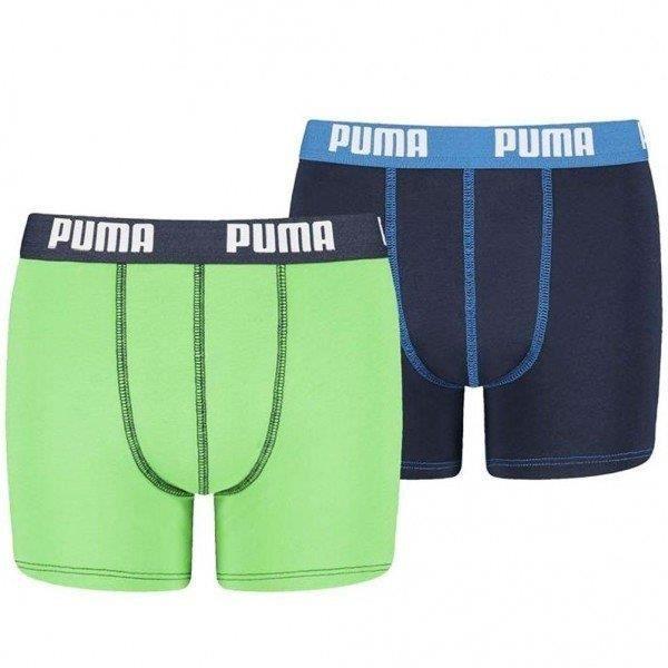 PUMA Lot de 2 Boxers Garçon Coton BASICN Bleu Vert Bleu - Achat ...