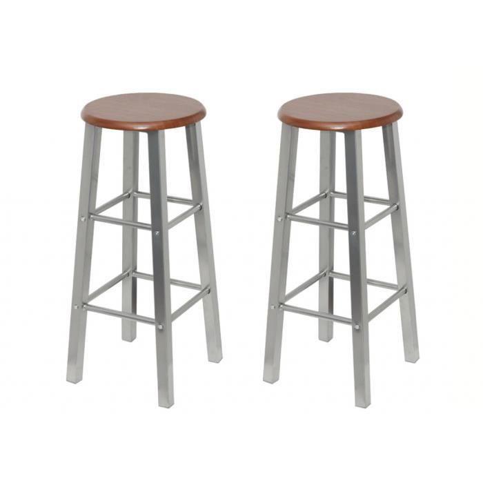 Tabouret de bar old school lot de 2 achat vente - Tabouret de bar cdiscount ...