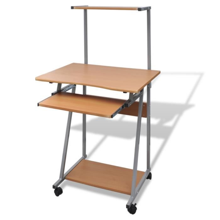 Table de bureau brun pour ordinateur achat vente table for Table pour pc de bureau