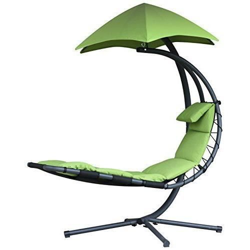 vivere dream ga r veuse originale chaise suspendue acier pomme verte 187 x 104 x 213 cm achat. Black Bedroom Furniture Sets. Home Design Ideas