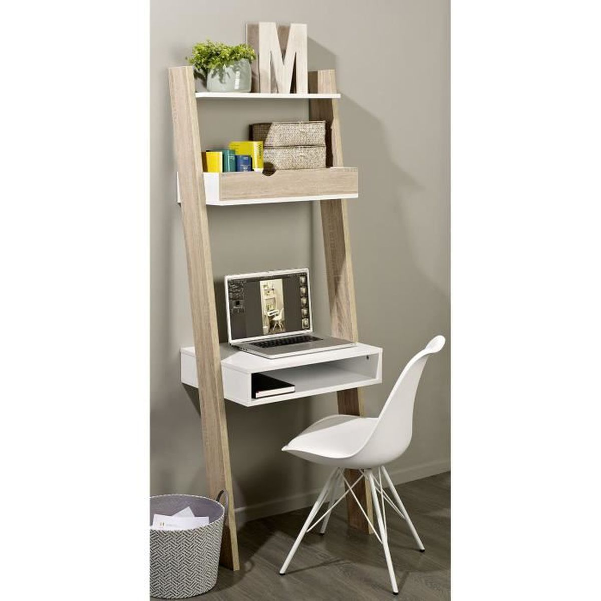 tag re de rangement biblioth que avec bureau cubique et 2. Black Bedroom Furniture Sets. Home Design Ideas