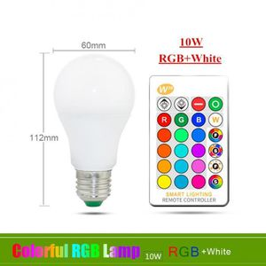 AMPOULE - LED Version E27 10W RGBW - 110v 220v E27 Ampoule Led R