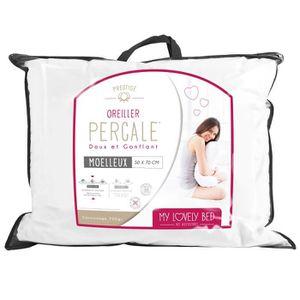 OREILLER My Lovely Bed - Oreiller Percale 100% Coton | 50x7