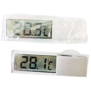 STATION MÉTÉO Thermomètre de fenêtre numérique de voiture LCD su