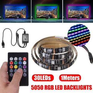 BANDE - RUBAN LED 1m Ruban LED Bande lumineux USB 30 LEDs 5050 RGB L