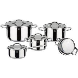 BATTERIE DE CUISINE GSW Meran - Batterie de cuisine 9 pièces en acier