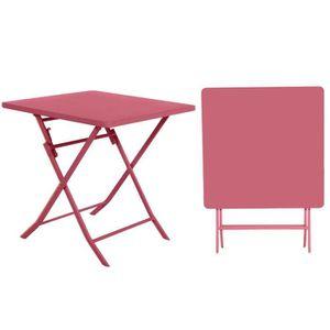 TABLE DE JARDIN  Table de jardin Hespéride carrée Greensboro 70 x 7