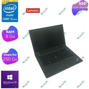 PC RECONDITIONNÉ Lenovo T440 - Intel Core i5 4300U - RAM 8 Go - SSD