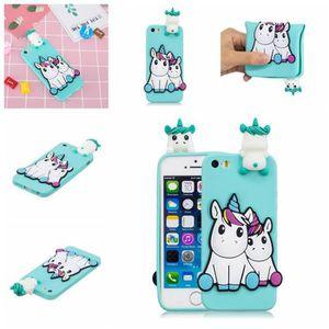 coque iphone 5s 5 se 3d silicone tpu gel licorne c