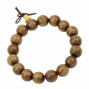 BRACELET - GOURMETTE Bracelet charms et perle Bijou Bois santal 12mm Mi